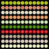 Reeks universele pictogrammen voor Web en mobiel Stock Foto's