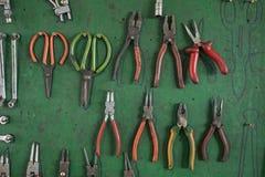Reeks vaak gebruikte hulpmiddelen in garage Royalty-vrije Stock Afbeelding