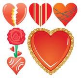 Reeks valentijnskaart`s harten, deel 7 Royalty-vrije Stock Fotografie