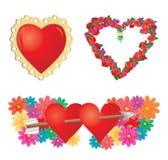 Reeks valentijnskaartenharten, deel 2 Royalty-vrije Stock Foto