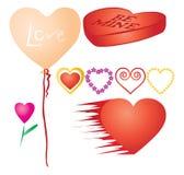Reeks valentijnskaartenharten, deel 3 Royalty-vrije Stock Afbeelding