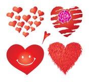 Reeks valentijnskaartenharten, deel 4 Stock Afbeelding