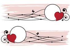 Reeks valentijnskaartkaders Royalty-vrije Stock Afbeelding