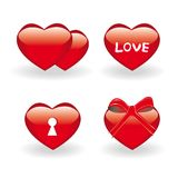 Reeks valentijnskaartpictogrammen royalty-vrije illustratie
