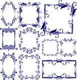 Reeks van 10 decoratieve frames Stock Afbeeldingen