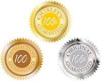 Reeks van 100 gewaarborgde percenten royalty-vrije illustratie