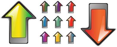 Reeks van 11 Kleurrijke Glanzende Knopen Van uitstekende kwaliteit Stock Foto's