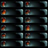 Reeks van 12 zwarte Halloween etiketten Royalty-vrije Stock Foto's