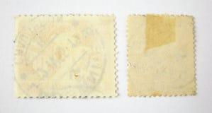 Reeks van 2 lege postzegels stock fotografie