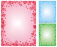 Reeks van 3 romantische achtergronden Stock Foto