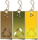 Reeks van 3 verkoopmarkeringen met het recycling van illustratie Royalty-vrije Stock Fotografie