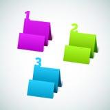 Reeks van 3D Markering van het Document stock illustratie