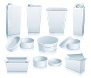 Reeks van 3D pakket. stock illustratie