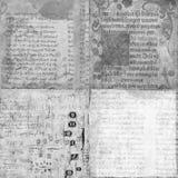 Reeks van 4 antieke uitstekende manuscriptentexturen Royalty-vrije Stock Afbeelding