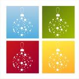 Reeks van 4 Kerstmisachtergronden Royalty-vrije Stock Foto
