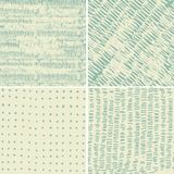 Reeks van 4 naadloze krabbelpatronen Royalty-vrije Stock Afbeeldingen