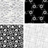 Reeks van 4 texturen Stock Fotografie