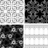 Reeks van 4 texturen Royalty-vrije Stock Foto's