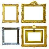 Reeks van 5 gouden frames Stock Afbeelding