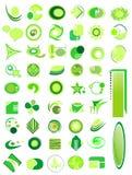 Reeks van 50 pictogrammen  Stock Afbeelding