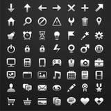 Reeks van 56 pictogrammen voor software Stock Afbeelding