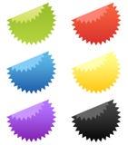 Reeks van 6 glanzende Stickers van de Ster Stock Foto