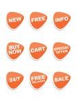 Reeks van 9 vector online het winkelen pictogrammen royalty-vrije illustratie