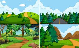 Reeks van aardachtergrond vector illustratie