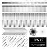 Reeks van abstract halftone vectorelement Stock Fotografie