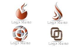 Reeks van Abstract Logo Template Royalty-vrije Stock Afbeelding