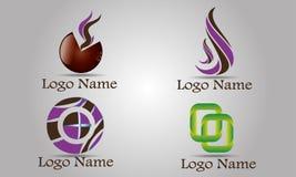 Reeks van Abstract Logo Template Royalty-vrije Stock Afbeeldingen