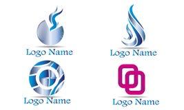 Reeks van Abstract Logo Template Stock Fotografie