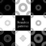 Reeks van Abstract Naadloos geometrisch patroon 8 van stip Royalty-vrije Stock Afbeeldingen