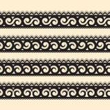 Reeks van abstract naadloos lint Royalty-vrije Stock Afbeelding