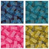 Reeks van abstract patroon als achtergrond met puntelementen Royalty-vrije Stock Afbeeldingen