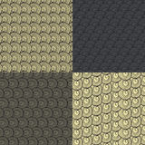 Reeks van abstract patroon vier van bruine wol Royalty-vrije Stock Foto