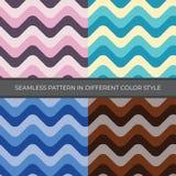 Reeks van Abstract Vector Naadloos Patroon met vier kleurenstijl vector illustratie