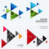 Reeks van abstract vectorontwerp voor grafisch malplaatje Creatieve moderne bedrijfsachtergrond stock illustratie