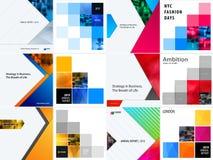 Reeks van abstract vectorontwerp voor grafisch malplaatje Creatieve moderne bedrijfsachtergrond vector illustratie