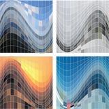 Reeks van abstract vierkant patroon als achtergrond Vector EPS10 vector illustratie