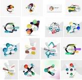 Reeks van abstracte geometrische infographic banner Stock Foto's