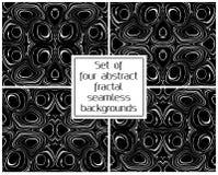Reeks van abstracte marmerings zwart-witte naadloze vectorbackgro Stock Foto