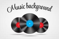 Reeks van Abstracte muziekvector als achtergrond Royalty-vrije Stock Fotografie