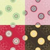 Reeks van abstracte naadloze textuur. Stock Foto's
