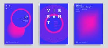 Reeks van in abstracte ontwerpsjabloon royalty-vrije illustratie