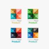 Reeks van abstracte vierkante de navigatieknoop van het interfacemenu stock illustratie