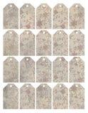 Reeks van acht sjofele elegante grungy bloemenmarkeringen royalty-vrije illustratie