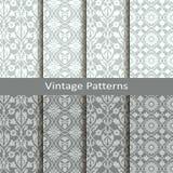 Reeks van acht vector uitstekende Arabische patronen ontwerp voor verpakking, dekking, textiel stock illustratie