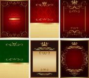 Reeks van achtergrondvector Royalty-vrije Stock Afbeeldingen