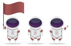 Reeks van Astronaut Vector Character stock afbeeldingen